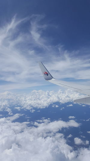 Blue Sky Clouds And Sky Wingtips MAS Winglet Airplane Flying Sky