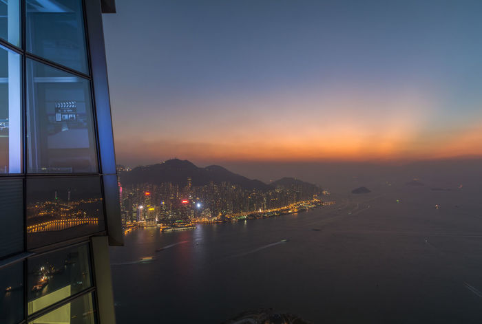 sky100 view Hong kong Hong Kong Hong Kong City HongKong Architecture Beauty In Nature Building Exterior Built Structure City Cityscape Clear Sky Illuminated Mountain Nature Night No People Outdoors Scenics Sea Sky Sky100 Sunset Tranquility Travel Destinations Water Waterfront