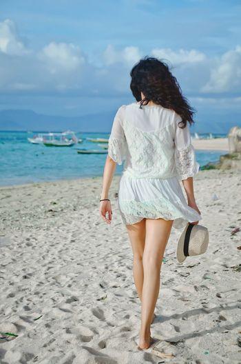 she left me ? Beach Sand Bluesky Lembongan Island Bali, Indonesia