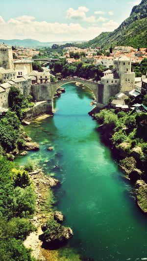 Landscape River Bridge Beautiful