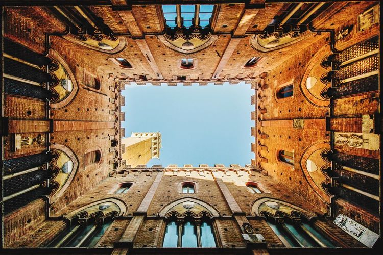 Inside the Palazzo Pubblico in Siena, Italy Travel Italy Siena Architecture Built Structure Arch Low Angle View No People History Building Exterior