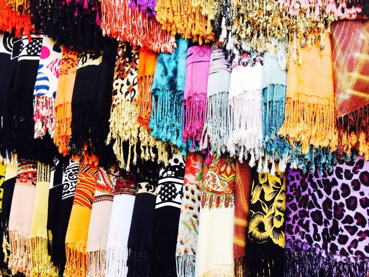 Well Multi Colored Retail  Market Colorful Textile Small Business Woolen Travel Photography SCARFS Inmumbai
