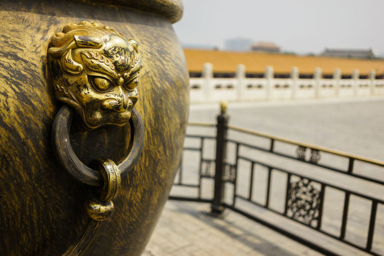 Decorative Cauldron at the Forbidden City, Beijing China. ASIA Beijing Beijing, China Forbidden City Travel Photography Cauldron China Chinese Chinese Culture Close-up Day Gold Colored Metal No People Outdoors Sculpture Travel Destinations 中国 北京 故宫