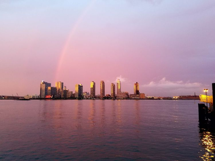 And here is queens all colorful and pretty lol Manhattan Enjoying The View Inthecity  FDR Drive Raimbow New York City Downtown Sky NYC Nature Relaxing Queens