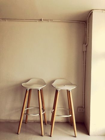 EyeEm Selects Seat Wall - Building Feature Chair No People Indoors  Stool Absence Table Home Interior Old Domestic Room Empty Wood - Material Flooring Day White Color Architecture Simplicity Still Life Tiled Floor