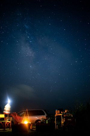 Camp galaxy Night Star - Space Space Astronomy Sky Scenics - Nature Illuminated Nature Galaxy Architecture Beauty In Nature Star Star Field Science Mode Of Transportation Transportation No People Milky Way Motor Vehicle Built Structure