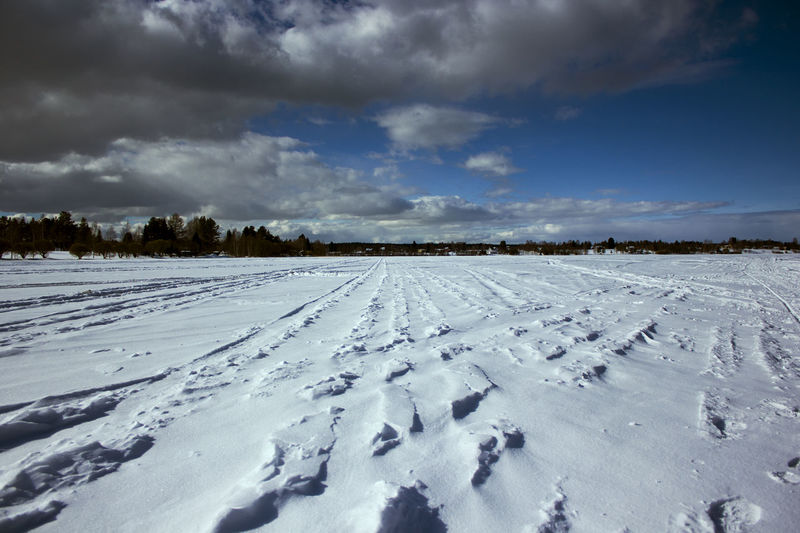 EyeEmNewHere Beauty In Nature Cloud - Sky Cold Temperature Day Environment Field Land Landscape Nature No People Non-urban Scene Outdoors River Scenics - Nature Sky Snow Tranquil Scene Tranquility White Color Winter