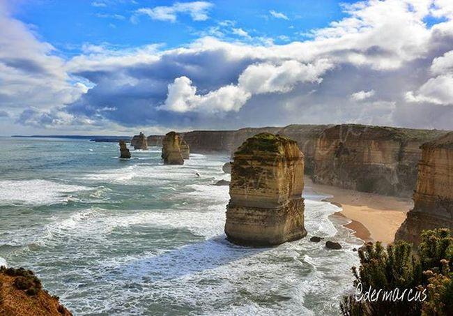 Australia Seascape Landscape Panorama Twelveapostles Ocean Greatoceanroad Sky Clouds Nature Madewithpicsart