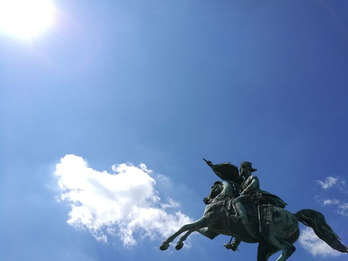 To The Sky Wefly Victory Vieena Horseman Summer Blue Sky And Clouds Horse