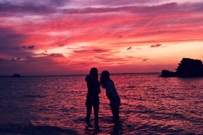 ニライカナイへの道?! Nirai-kanai Sunsetscene Eyemphotography Beautiful Sunset_collection Comeing Summer また来よう