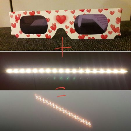 Heart Heart Glasses  Glasses Light Effect Light Red