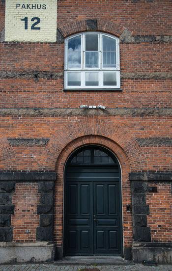 Exterior of brick wall