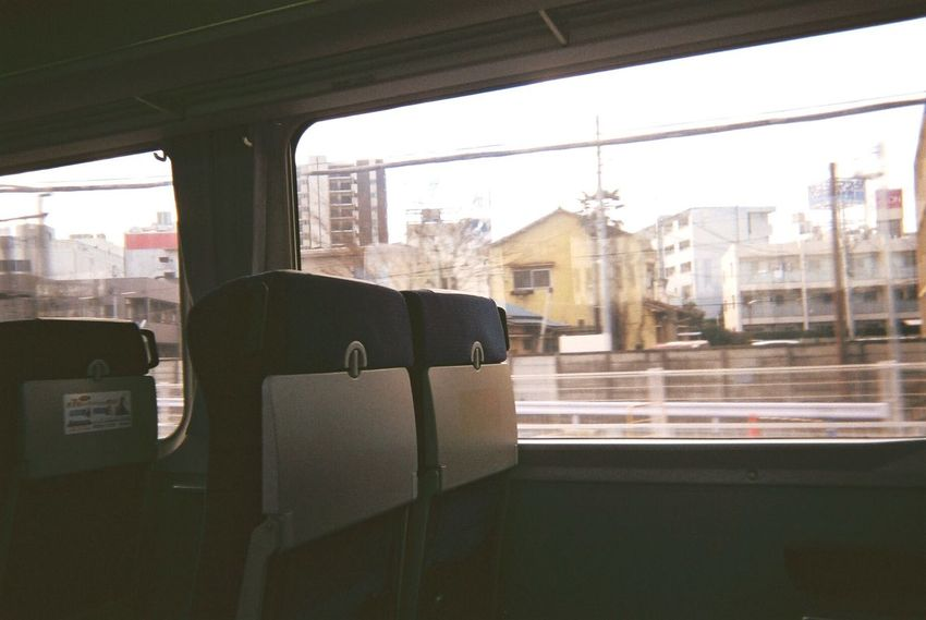 Window Vehicle Interior Transportation Glass - Material Mode Of Transport Indoors  Land Vehicle Architecture Train - Vehicle Vehicle Seat Day Built Structure Travel Public Transportation Looking Through Window Bus Chair No People Seat Train