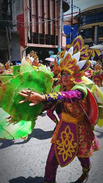 Real People Lifestyles Cultures Traditional Clothing Architecture Arts Culture And Entertainment Leisure Activity Outdoors Holding Multi Colored Built Structure Day One Person Women Adults Only Adult People Sinulog Colorful Festival PagadianCity Philippines Dance Photography Dance Local
