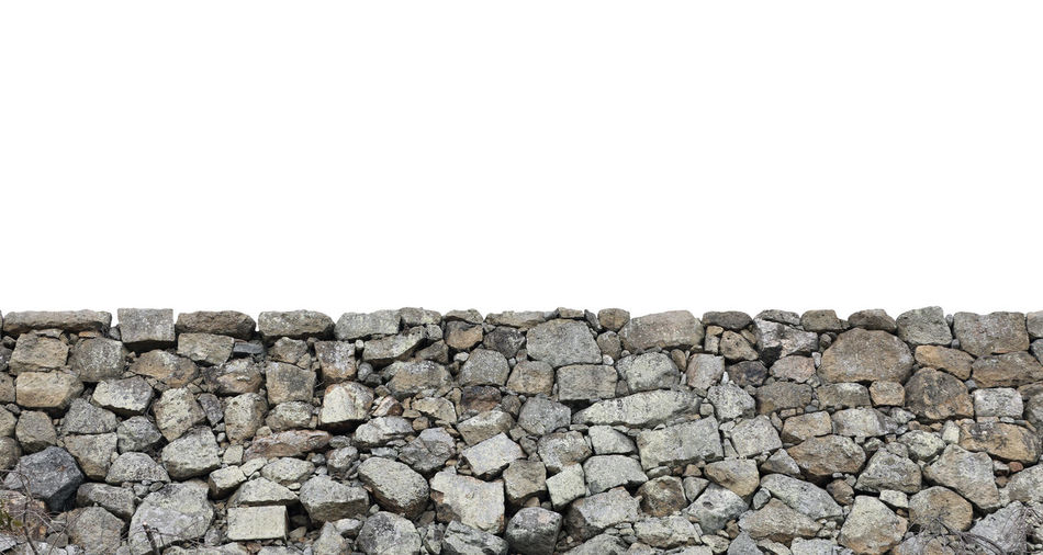 Stack of stone wall