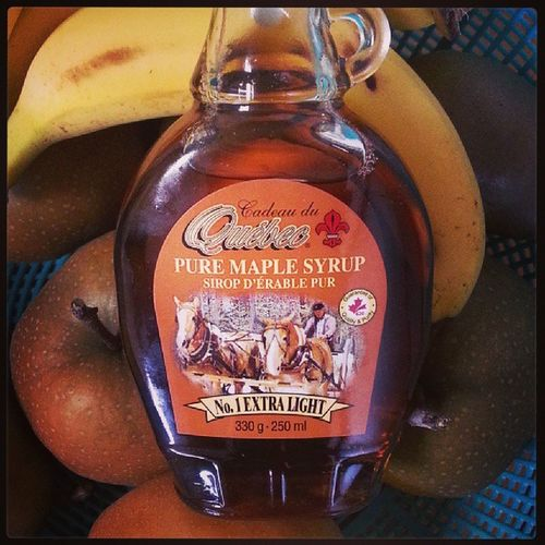 On the family farm okasan spared no expense to help me feel at home. Maplesyrup Canadianmaplesyrup Pancakebreakfast tomw