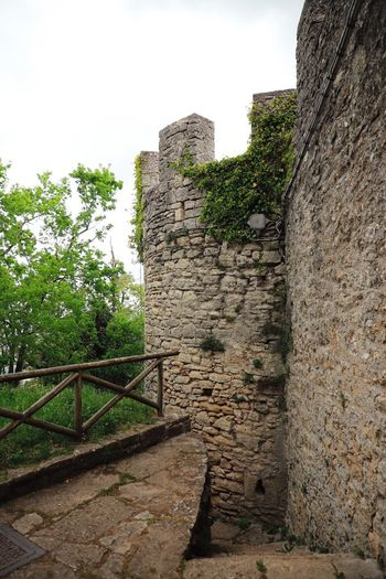 Architecture Built Structure History The Past Wall Old Stone Wall Sky Plant Nature Wall - Building Feature Building Exterior Castle Fort Ancient No People Day Fortified Wall Travel Destinations Staircase Outdoors Ancient Civilization Ruined San Marino Italy Traveling Travel Photography Vacation