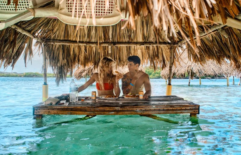 Colombia Cartagena Water Two People Tropical Climate Women Adult Trip Vacations Travel Holiday Nature Travel Destinations Couple - Relationship Positive Emotion Lifestyles