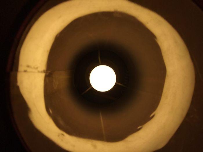 Directly below shot of illuminated light