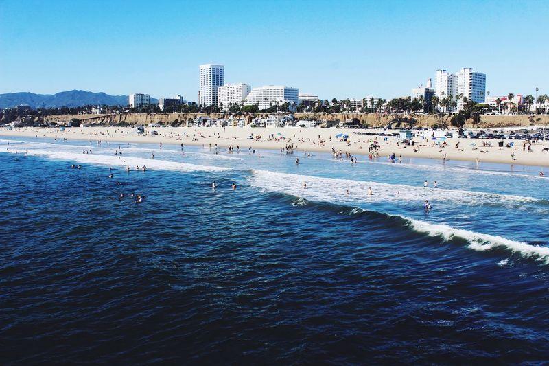 Beautiful Santa Monica Beach last Wednesday. Beachphotography Landscape Landscape_Collection Landscape_photography Beach Life Beach Photography Water California