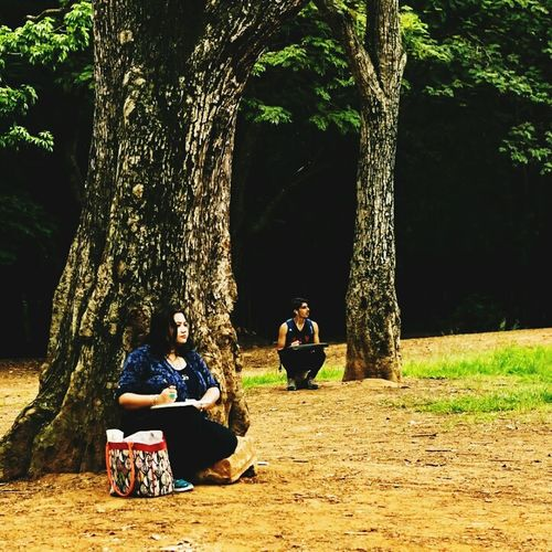 People And Places Person Bonding Treelined Young Adult Sitting Togetherness Leisure Activity First Eyeem Photo Park Nature Bengalurudiaries📑 Karnatakatourism Karnatakatour Bangalorenature