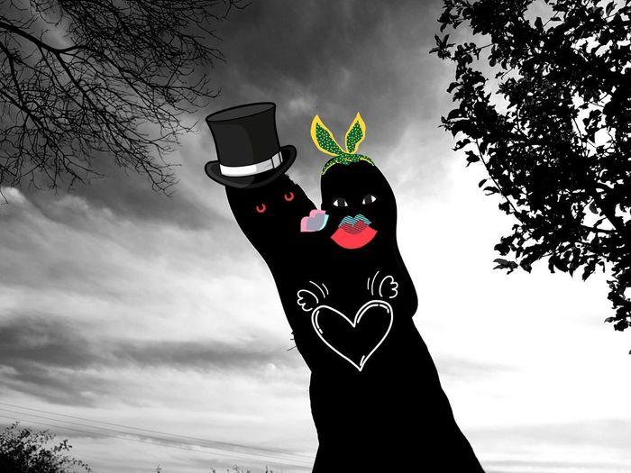Just Married .. Love Love ♥ Just Married Just Married! Married Married Couple Love Red Happiness Women Sky
