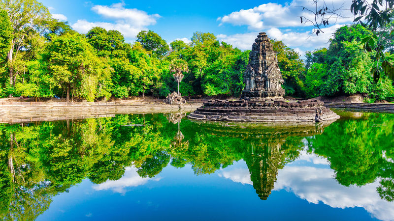 Neak Pean Angkor Wat Angkor Wat, Cambodia Neak Pean Ancient Civilization Architecture Beauty In Nature Building Exterior Built Structure Cloud - Sky Day Lake Nature No People Old Ruin Outdoors Place Of Worship Reflection Religion Sky Spirituality Travel Destinations Tree Water Waterfront