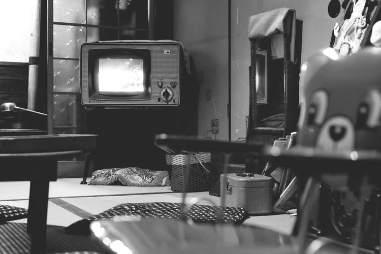EyeEm Selects Table Indoors  No People Day Technology Japan Japan Photography Television Antique
