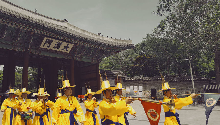 Deoksugung Changing Of The Guards Ceremony Traditional Korea