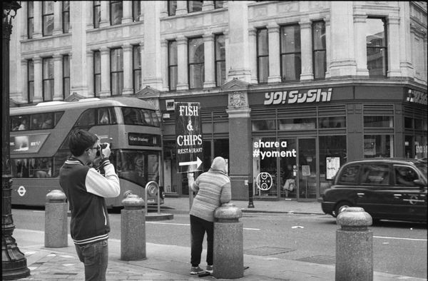 trying to fit in all the slices of London life in one frame -- canon ft/ql 55mm ilford delta 400 35mm Film Analogue Photography Architecture B&w Photography B&w Street Photography Black And White Blackandwhite City City Life Doubledecker England Everybodystreet Filmisnotdead Fish & Chips Lifestyles London London Taxi St Paul's Cathedral Street Photography Streetphotography The Street Photographer - 2016 EyeEm Awards Travel Photography Urban My Commute EyeEm LOST IN London
