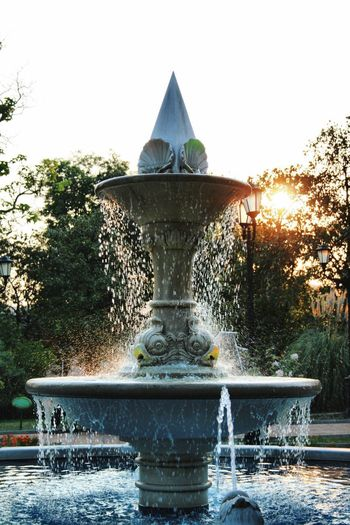 W A T E R Vellpic Tuapse Water Architecture Fountain Built Structure Nature Plant Tree Sky No People Building Exterior Motion Splashing