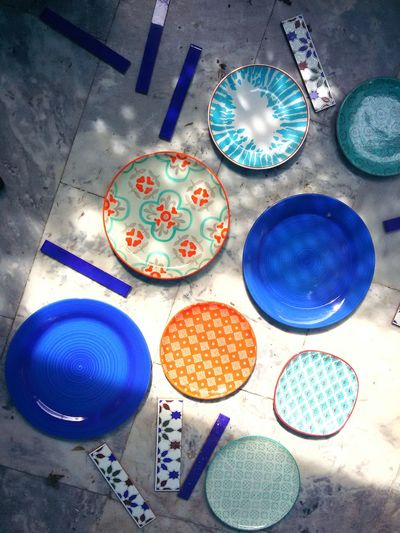 Ceramics Ceramica Späne Light Andalusia Medeterian Medeteranian Sea Colors Pattern