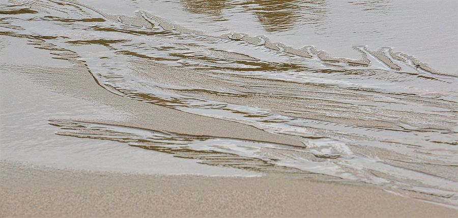 Shifting sands on the outgoing tide. Backgrounds Beauty In Nature Close-up Day Elevated View Full Frame Idyllic Nature No People Outdoors Rippled Rivulets Sand Scenics Tide Tideland Tranquil Scene Tranquility Water Water Surface