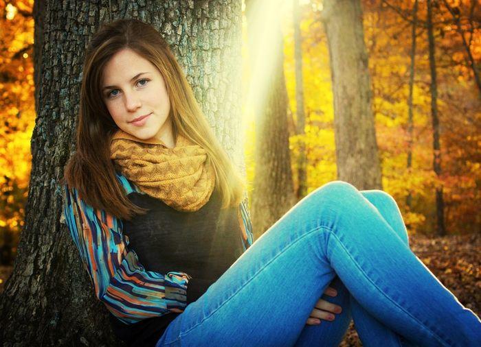 Portrait Autumn Colors Light