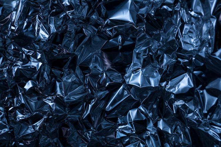 Full Frame Shot Of Crumpled Foil