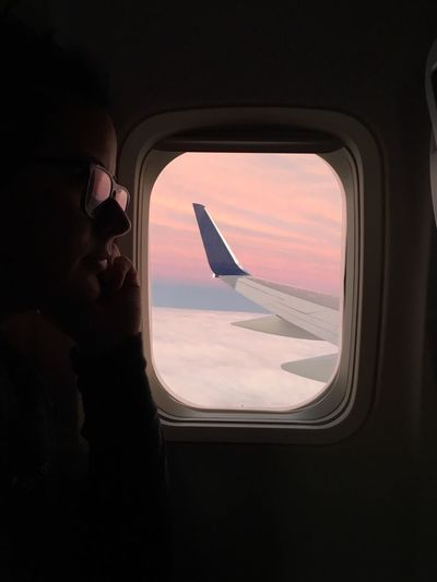 Views from Above Inflight Flight Plane Mode Of Transportation Vehicle Interior Air Vehicle Airplane Glasses Capture Tomorrow Indoors  One Person Sky Travel Window Flying Cloud - Sky Capture Tomorrow