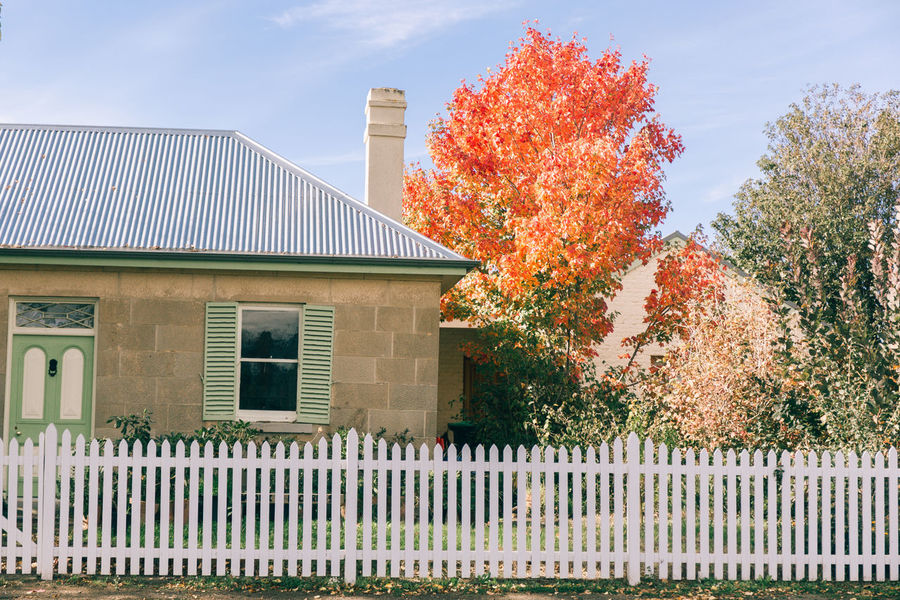 Australia Tasmania Australia Architecture Autumn Beauty In Nature Building Exterior Built Structure Day Grass Green Color Growth Leaf Nature No People Outdoors Plant Sky Tasmania Tree