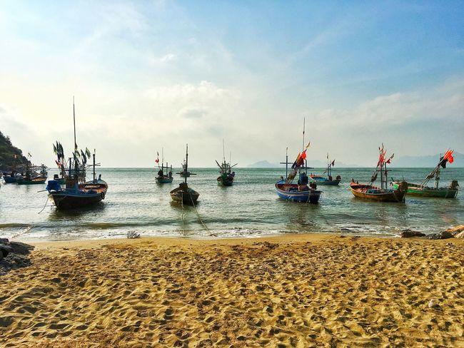 Thai Water Sky Transportation Sea Nautical Vessel Mode Of Transportation Cloud - Sky Travel Nature Day Beach Land Sunlight Outdoors