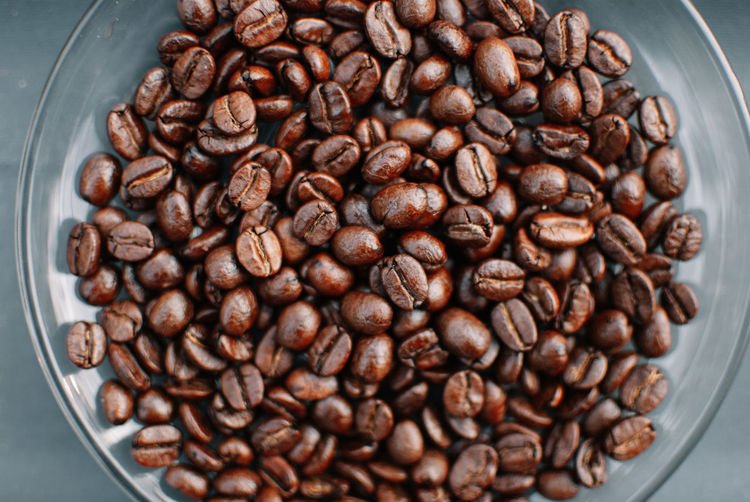 Food And Drink Food Large Group Of Objects Abundance Indoors  Coffee Freshness Roasted Coffee Bean Coffee - Drink Close-up Brown No People Preparation  High Angle View Caffeine Cup Drink Scented Raw Food Directly Above