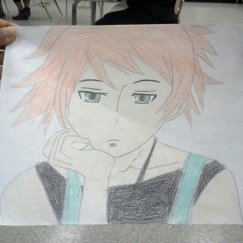Anime Pencil Drawing Kaoru Sketch Color Boredom I think that my coloring is terrible, but that's wut practice is 4 right.