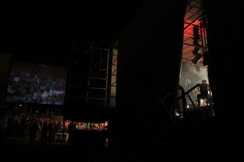 Back Stage Concert Dark Festival Low Angle View Music Night People Xutos & Pontapés