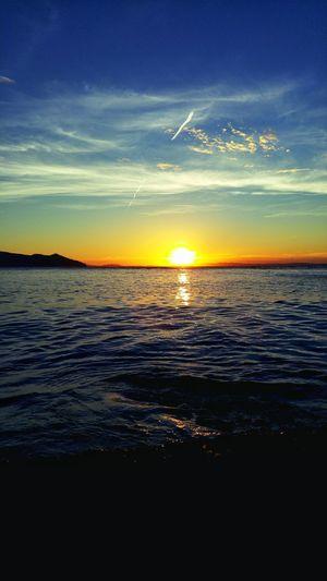 My sunset 😊 Sunset Tranquility Sea Reflection Water Beauty In Nature Beach Refraction Paradise Mobile_photographer Naturezaperfeita Lg G4 Photography Snapseed Eye4photography  Paradise Beach Brasil