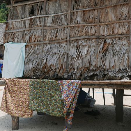 Thai Sea Gypsies House Beach Hut Beach Nature Indigenous Culture Eco House Eco House Icon In Nature Natural Living EyeEm Selects Drying Shelter Cloth Laundry Fabric For Sale Textile Dryer  Laundry Basket Clothesline