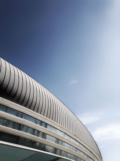 Minimalist Architecture No People Sky Day Architecture Minimalism Geometry Building Exterior Lisbon, Portugal Curves Curvy & Beautiful Clearsky Instagramer Umeugram