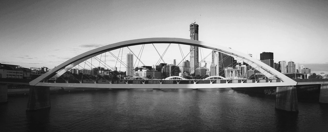 Architecture Black & White Bridge Brisbane City Built Structure City City Connection Construction Engineering River Train Bridge Travel Water