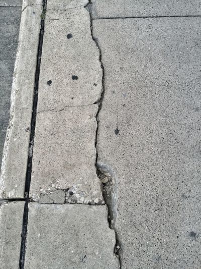 cracked sidewalk Sidewalk Cracked Stone Path City Backgrounds Full Frame Textured  Cracked High Angle View Pattern Rough Close-up LINE Ground Paved Paving Stone Deterioration Damaged