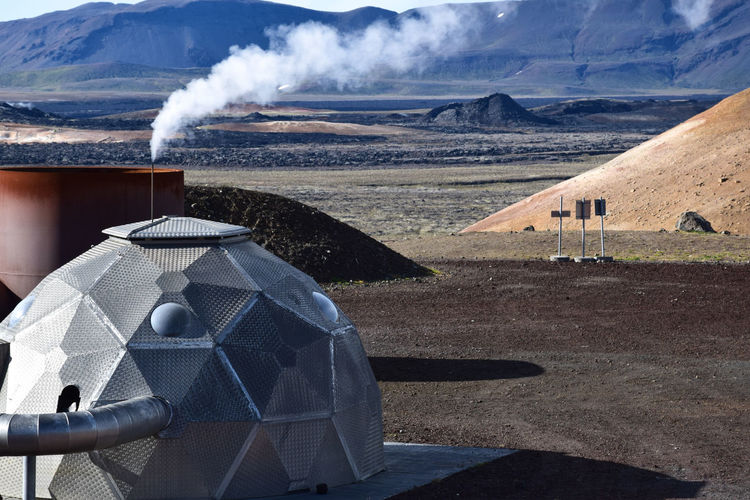 Thermal and Geothermal Power Generation Architecture Building Exterior Day Geology Geothermal  No People Outdoors Smoke - Physical Structure