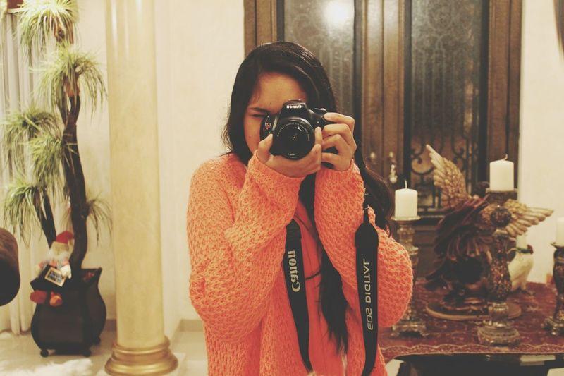Photographer Taking Photos Hello World