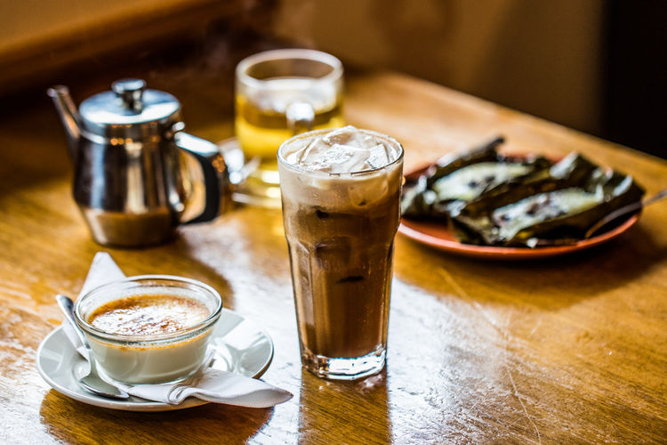 Desserts Thai Coffee Coffee Coffee - Drink Coffee Shop Drinking Glass Food Food And Drink Glass Indoors  No People