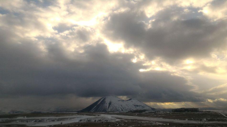 Cloud - Sky Nature Sky Beauty In Nature Nature Cloud Turkey ♡ Türkiye Turkey Mountain Kayseri Blue Sky Blue Snow Day Winter White Scenics Kış